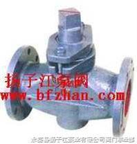 旋塞阀:X43W-1.0C二通铸钢法兰式旋塞阀