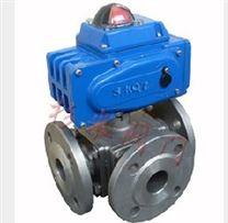 电动三通调节球阀 ZAJTQ电动三通调节球阀 电动三通切断球阀